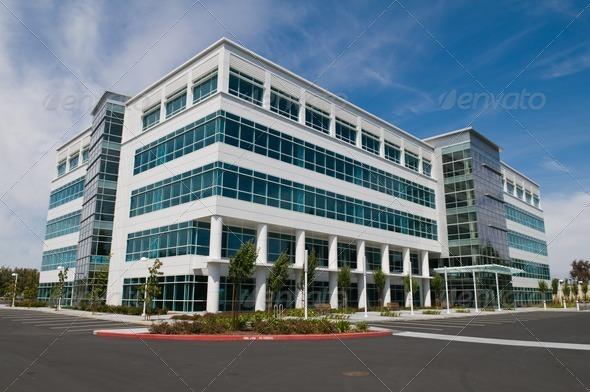 Immeuble en bureau utilisé pour représenter l'entreprise Abel Bwem CPA